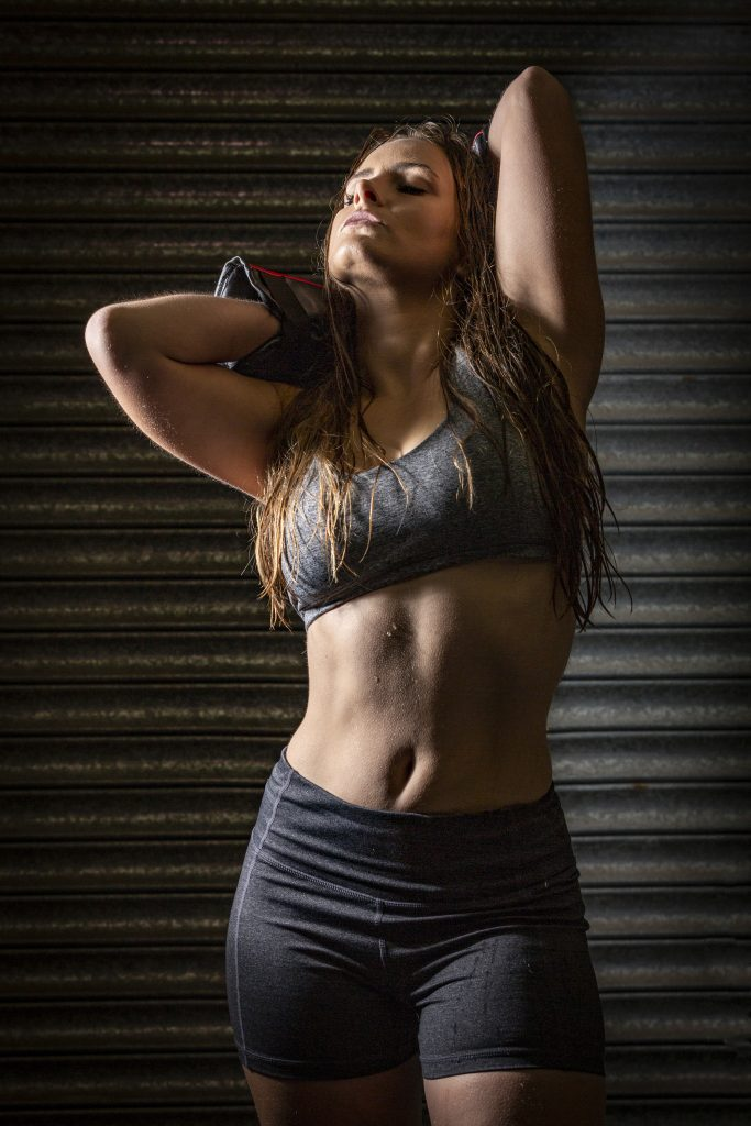Loretta Hope fitness model petite Elinchrom The Flash Centre